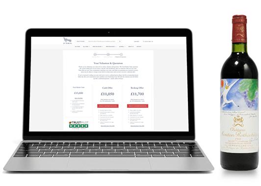 Sell My Wine Online Laptop Screen